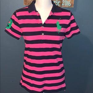 Ralph Lauren | Striped Polo w/large Logo